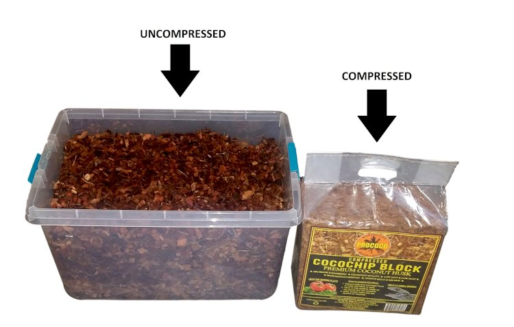 Prococo Cocochip compressed block vs uncompressed