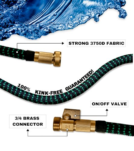 Expandable Garden Hose 50FT Heavy Duty No-Kink Compact Lightweight Waterhose Outdoor Lawn Shrinking Water Hose Expanding 50 FT Car Wash 3/4 Retractable Non-Kinking Watering Hose